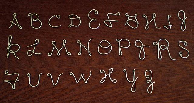 Tiny Wire Alphabet by The Ash Grove, via Flickr