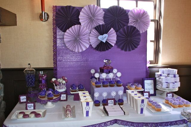 purple party - I like the backdrop; simple to do with any color or party.