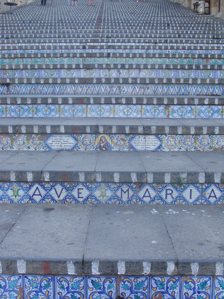Stairway of Azulejos in Caltagirone, Sicily