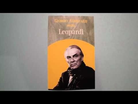 Giacomo Leopardi - A Silvia (Giorgio Albertazzi) - YouTube