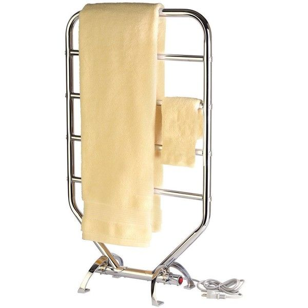 "Warmrails 5-Bar 34"" Plug-In Traditional Chrome Towel Warmer ($180) ❤ liked on Polyvore featuring home, bed & bath, bath, bath accessories, bathroom hardware, chrome bar, chrome towel bar, chrome towel bars, chrome bathroom accessories and chrome towel rack"