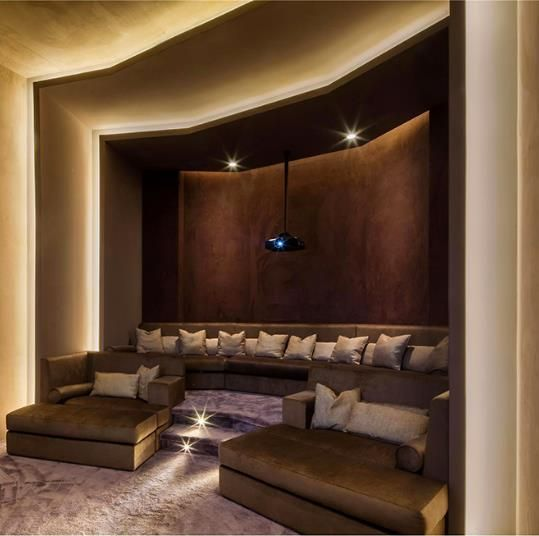 Media Room Love The Seating But Would Utilize Center For Viewing And Put Stairs Home Theater DesignHome