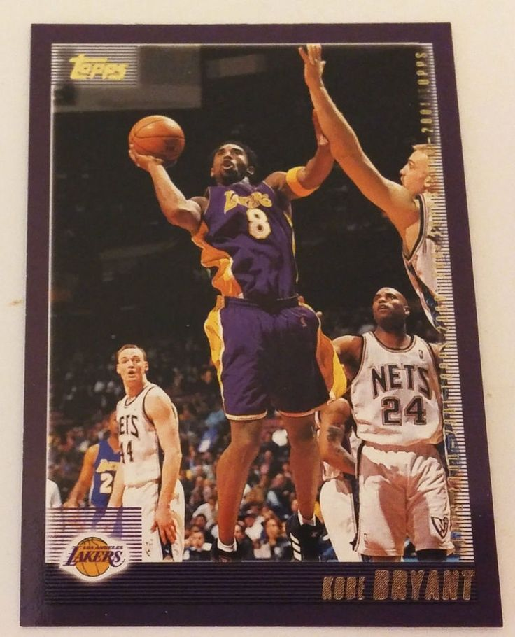 2000 TOPPS LAKERS KOBE BRYANT BASKETBALL CARD #189 MINT FROM PACK #TheToppsCompanyInc #LosAngelesLakers