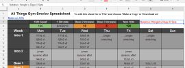 Smolov Squat Routine Spreadsheet (Includes Smolov Jr Calculator)