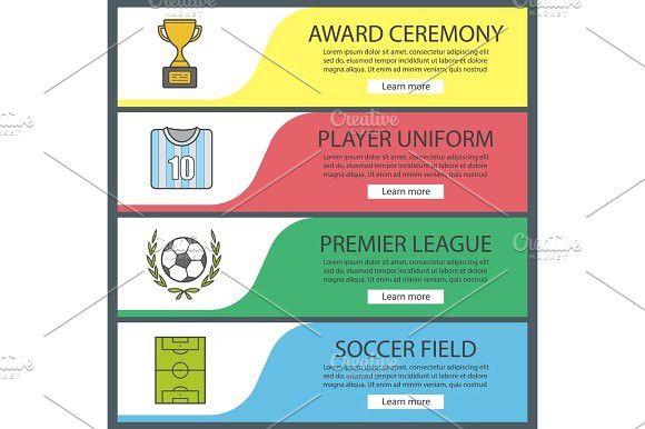 Soccer banner templates set. Graphic Design Infographics