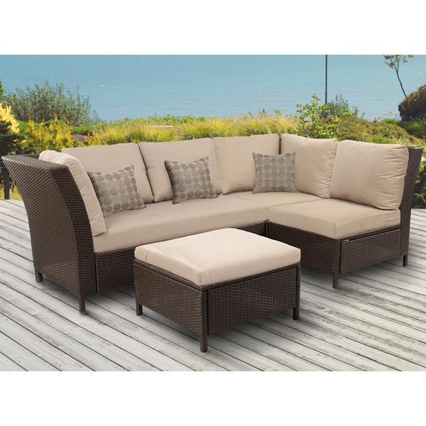 Soho 4 Piece Resin Wicker Patio Sectional Sofa Set | Meijer.com