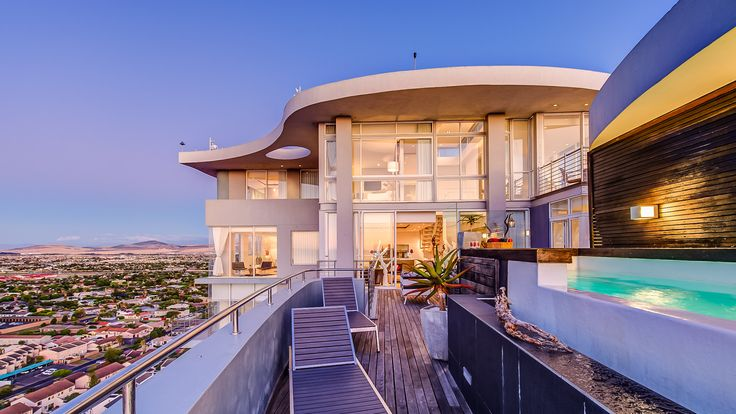 There are countless spectacular accommodation options in and around the stunning city of Cape Town, but only one literally tops them all: The Penthouse on Beach! Nestled high above Table Bay Beach, our position offers a magnificent view of the surrounding beaches below, Table Mountain and Cape Town itself from a bird's eye view!