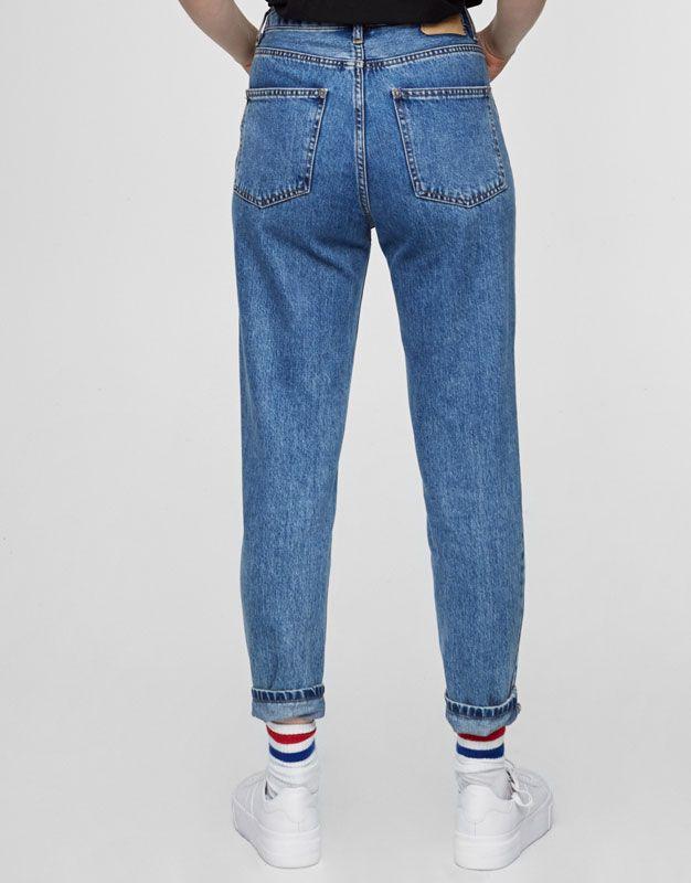 Mom fit jeans - Jeans - DENIM - HIDDEN - PULL&BEAR België