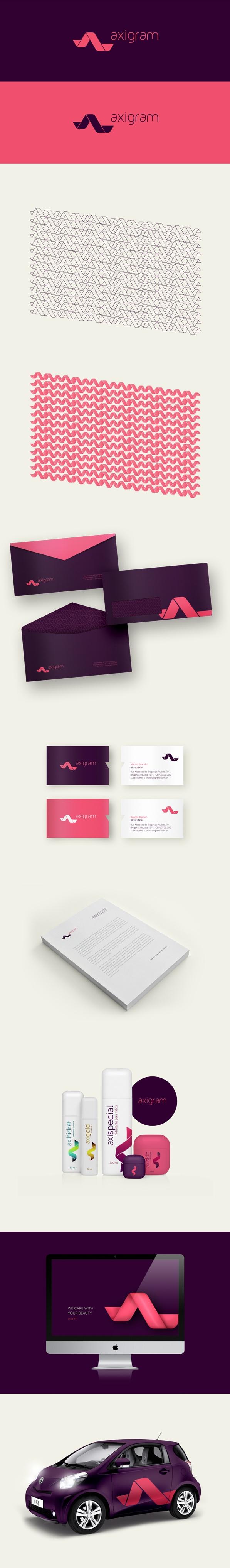 Axigram Branding by Douglas Marchiori, via Behance | #stationary #corporate #design #corporatedesign #identity #branding #marketing < repinned by www.BlickeDeeler.de | Take a look at www.LogoGestaltung-Hamburg.de