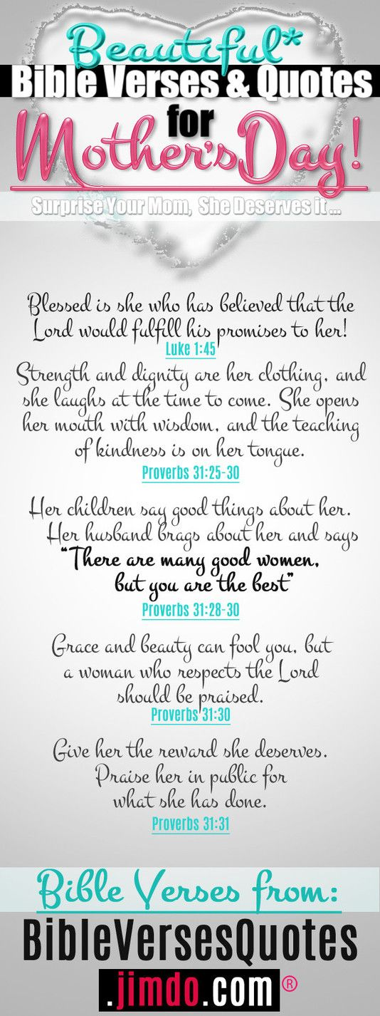 *Strength and dignity are her clothing...* - BEAUTIFUL BIBLE VERSES FOR MOTHERS DAY! easy to Repin from: http://bibleversesquotes.jimdo.com/bible-verses-for-mothers/