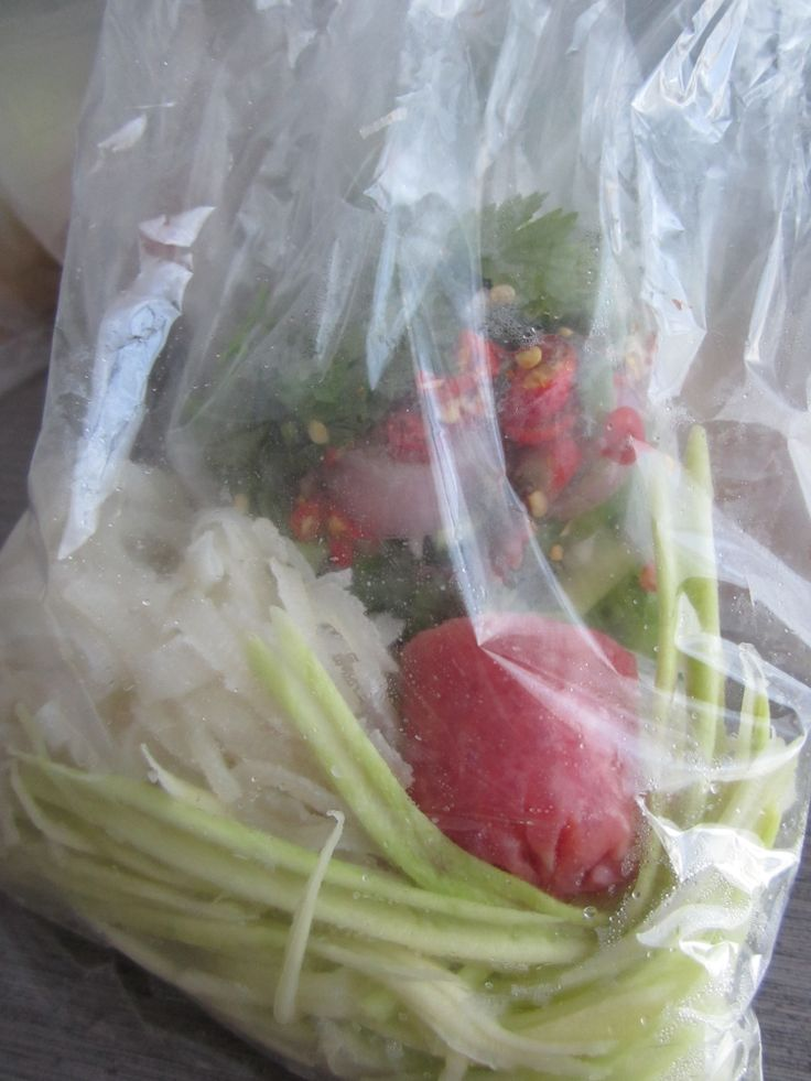 Bangkok-- salad fixin's for fried rice balls to go