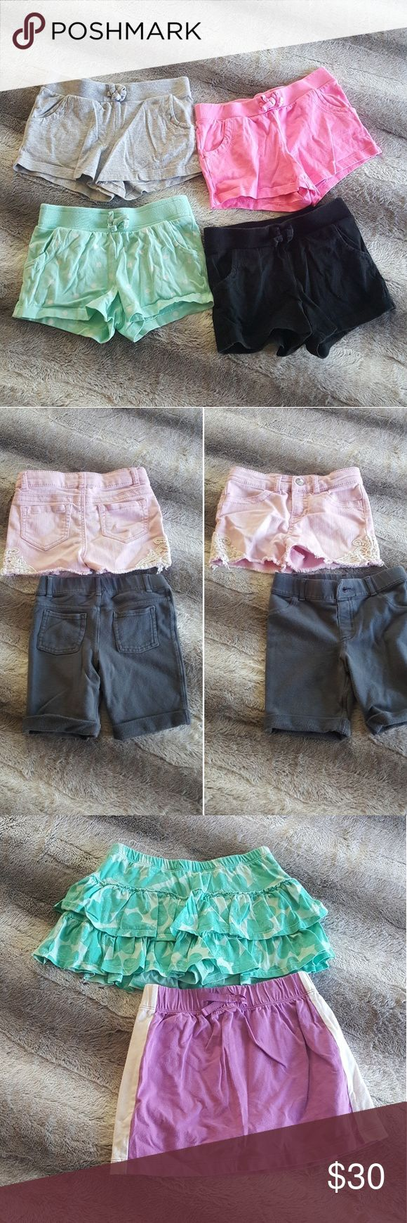 Bundle of Girls Shorts and Skorts All items are used but good condition with a lot of wear life left! There are 13 items total in this bundle. Sizing is as follows: Photo of 4 shorts are a size 6x Photo of black & purple shorts are a size 6x Photo of 2 skorts are a size 6 & 6x Photo of 2 shorts, pink are a size S & grey are a size 6x Photo of black shorts are a size 6x   ** I consider ALL reasonable offers based on my selling price. If you don't ask I can't say YES ** Bottoms