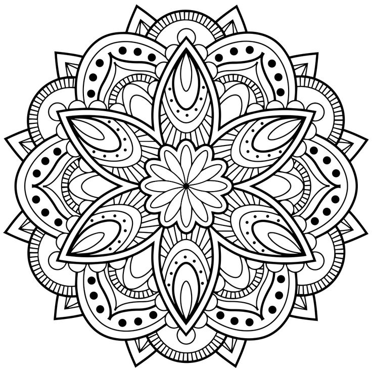 Mandala Coloring Pages For Anxiety