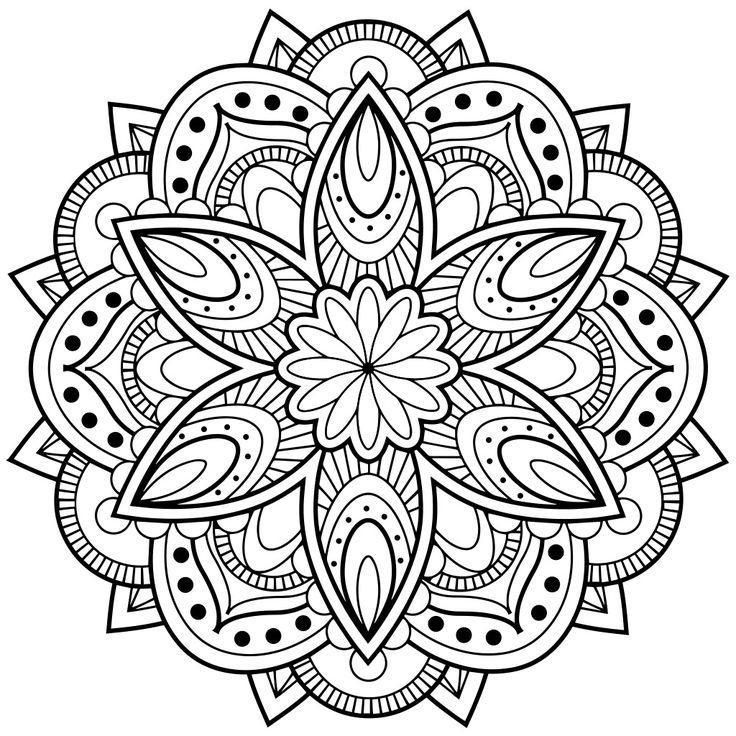 196 besten Mandala / Circle Art Bilder auf Pinterest | Malvorlagen ...