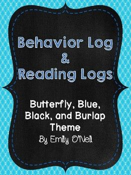 This is a great way to keep parents updated on their child's daily behavior. I would send this home with the reading log on the back every week. I have uploaded in PowerPoint so that you can edit it (i.e. add dates). The weekly reading logs are decorated by monthly themes.
