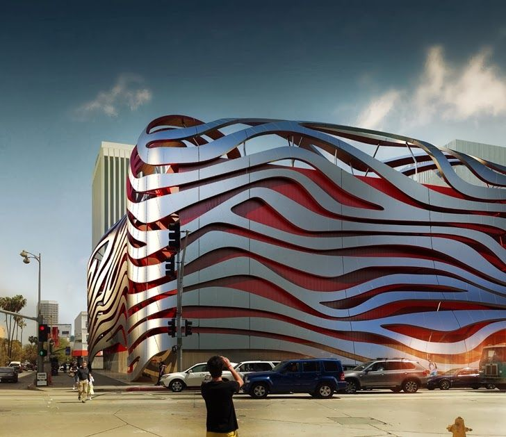 pinterest.com/fra411 #architecture - Amazing New Petersen Automotive Museum in Los Angeles