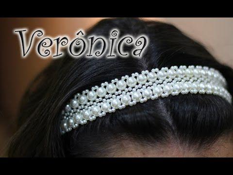 Porta Coque de Pérolas e Arrozinho - Trama de Pérolas - Headband de Pérolas - Tiara de Pérolas #5 - YouTube