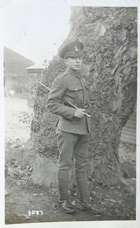 Unknown Member of 14 RWF with numerals 14 on his upper sleeve.