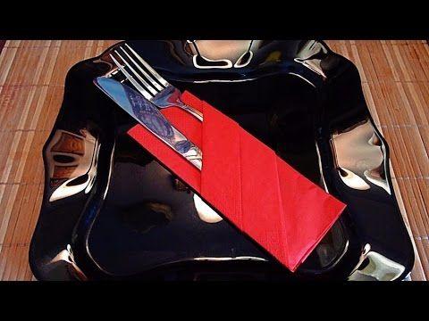 Как красиво сложить салфетку How beautiful folded napkin - YouTube