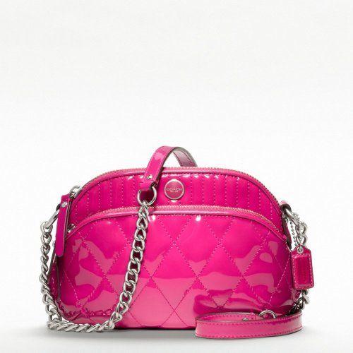 Coach Poppy Liquid Gloss Lil Gem Purse Magenta Pink 47887