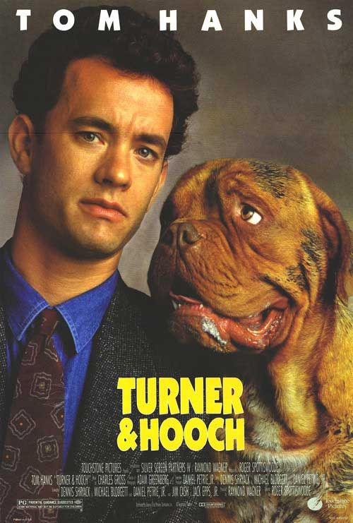 """Turner & Hooch"" Tom Hanks---This movie always manages to make me shed some tears."