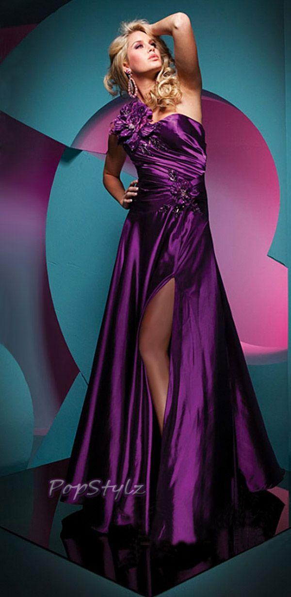 Tony Bowls Purple Evening Dress