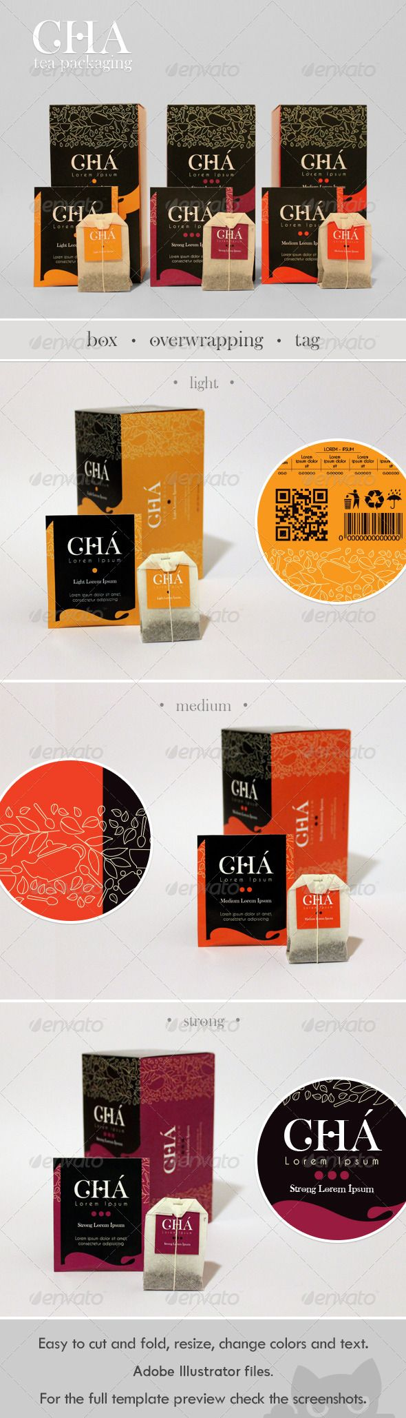 Classic Tea Packaging Design