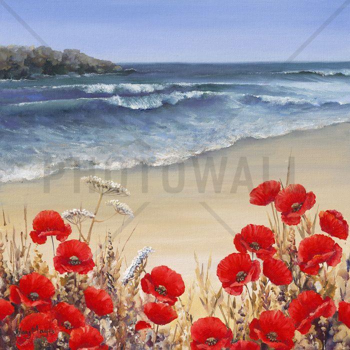Poppy Tides - Fototapeter & Tapeter - Photowall