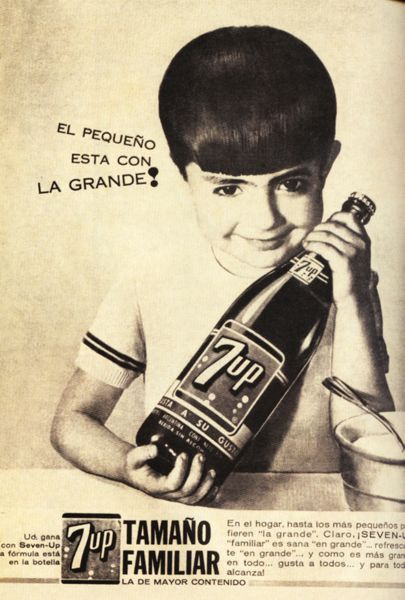 "7up!  I grew up with ""un pie aca y un pie alla"", with one foot here and one foot there... History, Culture and Tradition; in keeping with my story http://www.amazon.com/With-Love-The-Argentina-Family/dp/1478205458"