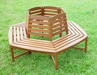 Hardwood circular tree bench have a seat pinterest tree bench wooden garden Circular tree bench