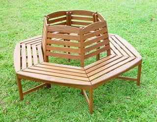 Hardwood circular tree bench have a seat pinterest tree bench wooden garden Circular tree bench