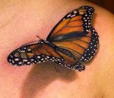Tatuagens de Borboletas: nas Costas, na Barriga, Delicadas