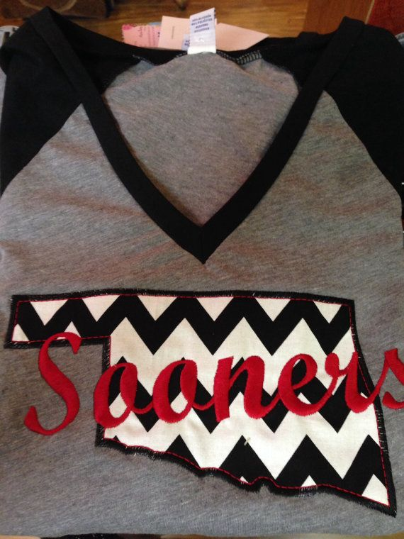 Oklahoma Sooners Appliqued by RandomStitches09 on Etsy
