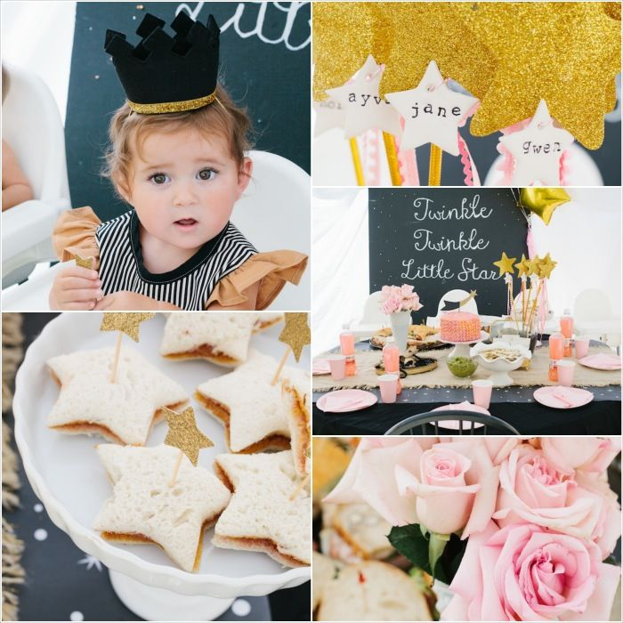 """Twinkle Twinkle Little Star"" Kids Birthday Party Theme Girl Boy Gold Star Nursery Rhyme"