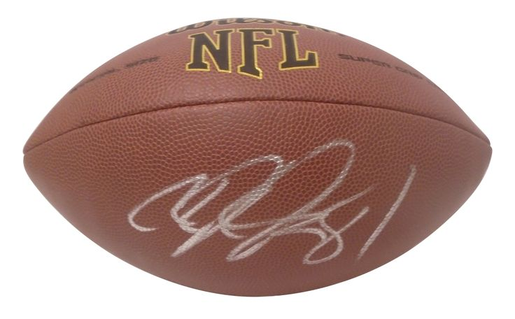 Calvin Johnson Autographed NFL Wilson Composite Football, Proof Photo
