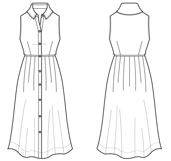 215680269627324668 together with 1188570 further  on indigo pleated skirt drawing