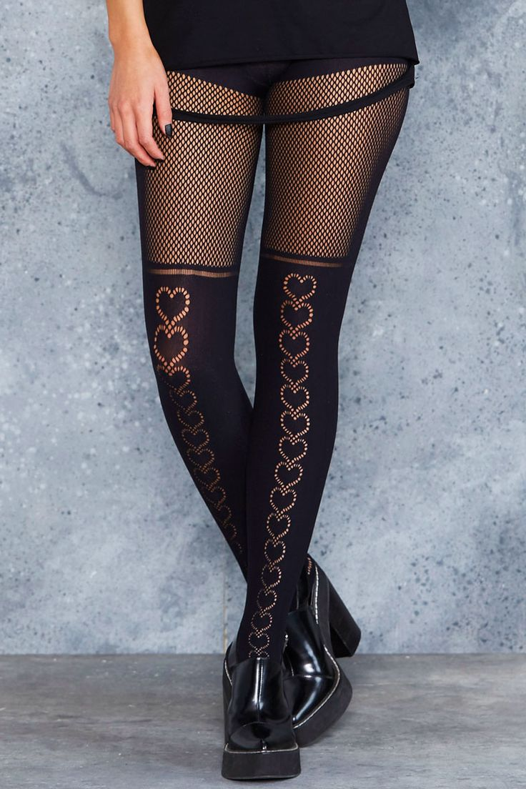 Hearts Hosiery - LIMITED ($40AUD) by BlackMilk Clothing