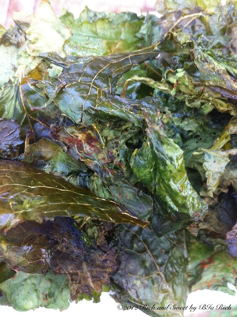 Rich and Sweet: Spicy Kale Chips: Olive Oil, Spicy Kale, Kale Chips, Sweets, Bia Rich, Appetizers Canopy, Bunch Kale, Delicacies Recipes