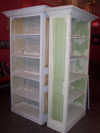 Miss Pixie's now makes bookcases out of old doors..great look!Old Shutters, Imagine Ideat, Display Cabinets, Crafts Room, Bookcas, Repurpoed Furniture, Furniture Ideas, Doors Furniture, Old Doors