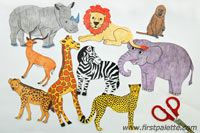 New African animal printables for awesome crafts and dioramas!