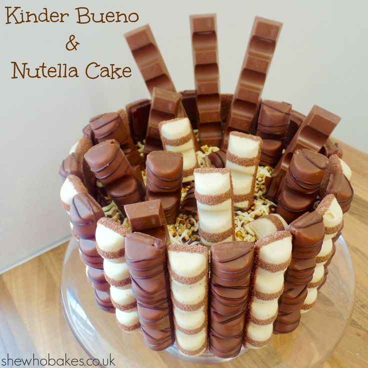 Kinder Bueno & Nutella Cake - She Who Bakes