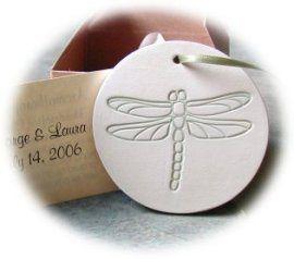 dragonfly wedding favors