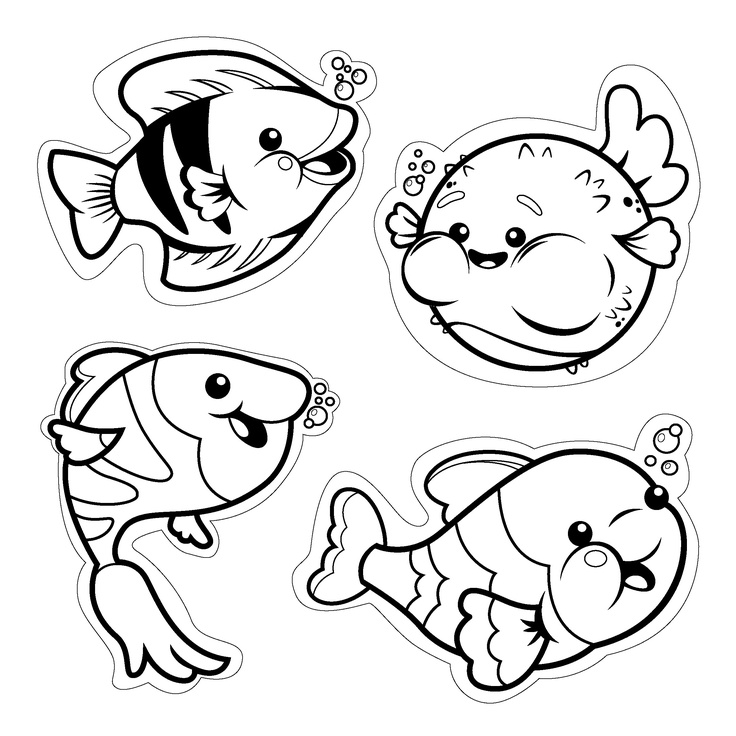 12++ Printable small fish coloring pages info