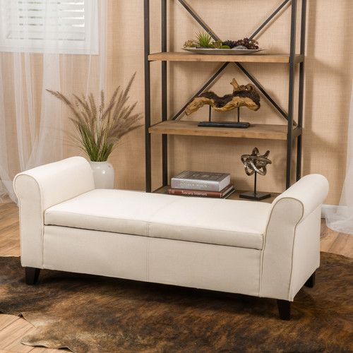 Found it at Wayfair - Varian Upholstered Storage Bedroom Bench in Light Blue