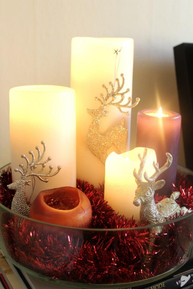 40 best christmas candles images on pinterest christmas decor diy christmas decoration candles solutioingenieria Image collections