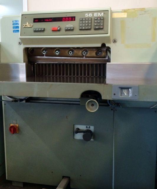 Polar Paper Guillotine 58 EM Printing Equipment - Single Phase Power