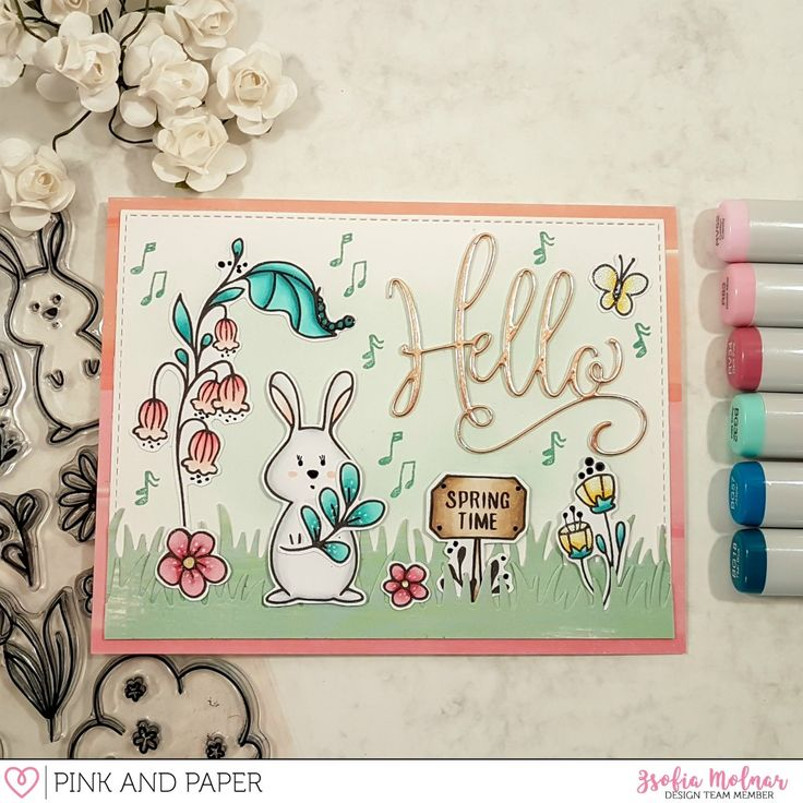 March Card Kit 2018 - scene cards | Zsofia Molnar