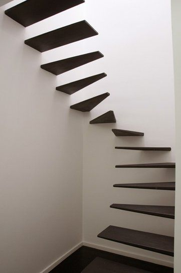 floating stairs.... #interior #stairs #stairwell #hallway #upstairs #downstairs #bannister #cantilever