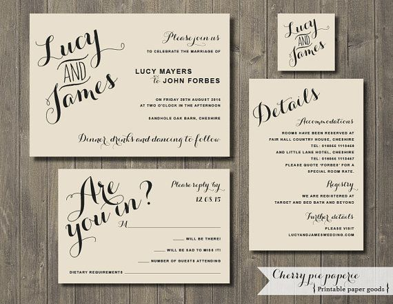 203 best printable wedding invitation diy images on pinterest free printable wedding invitation set invite rsvp card details card and monogram lucy stopboris Image collections