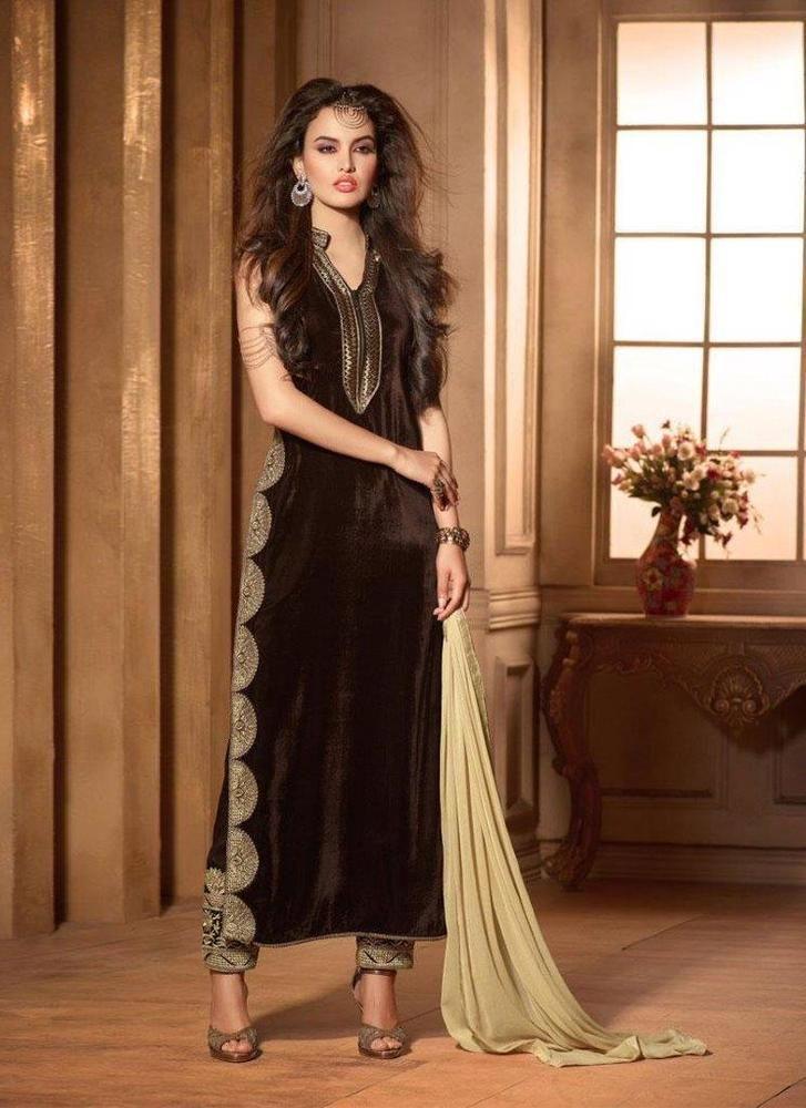 Wedding Indian Dress Party Bollywood Pakistani Designer Anarkali Salwar Suit1722…